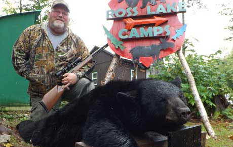 Our best black bear hunting photos at Ross Lake Camps in Maine