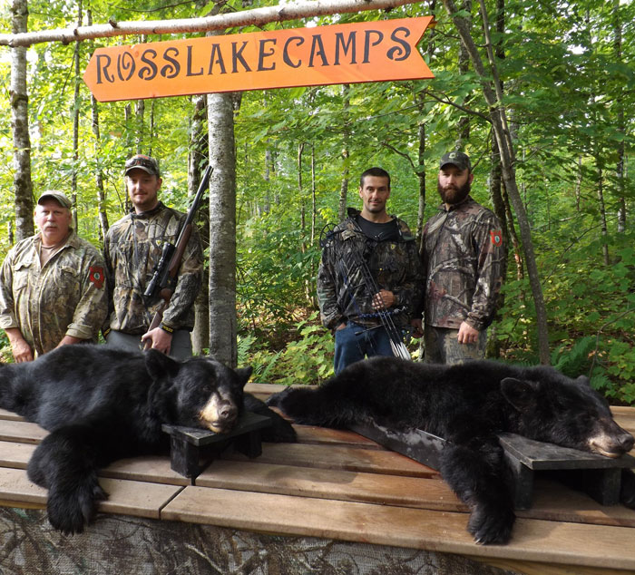 Maine bear hunting photos at ross lake camps for State of maine fishing license